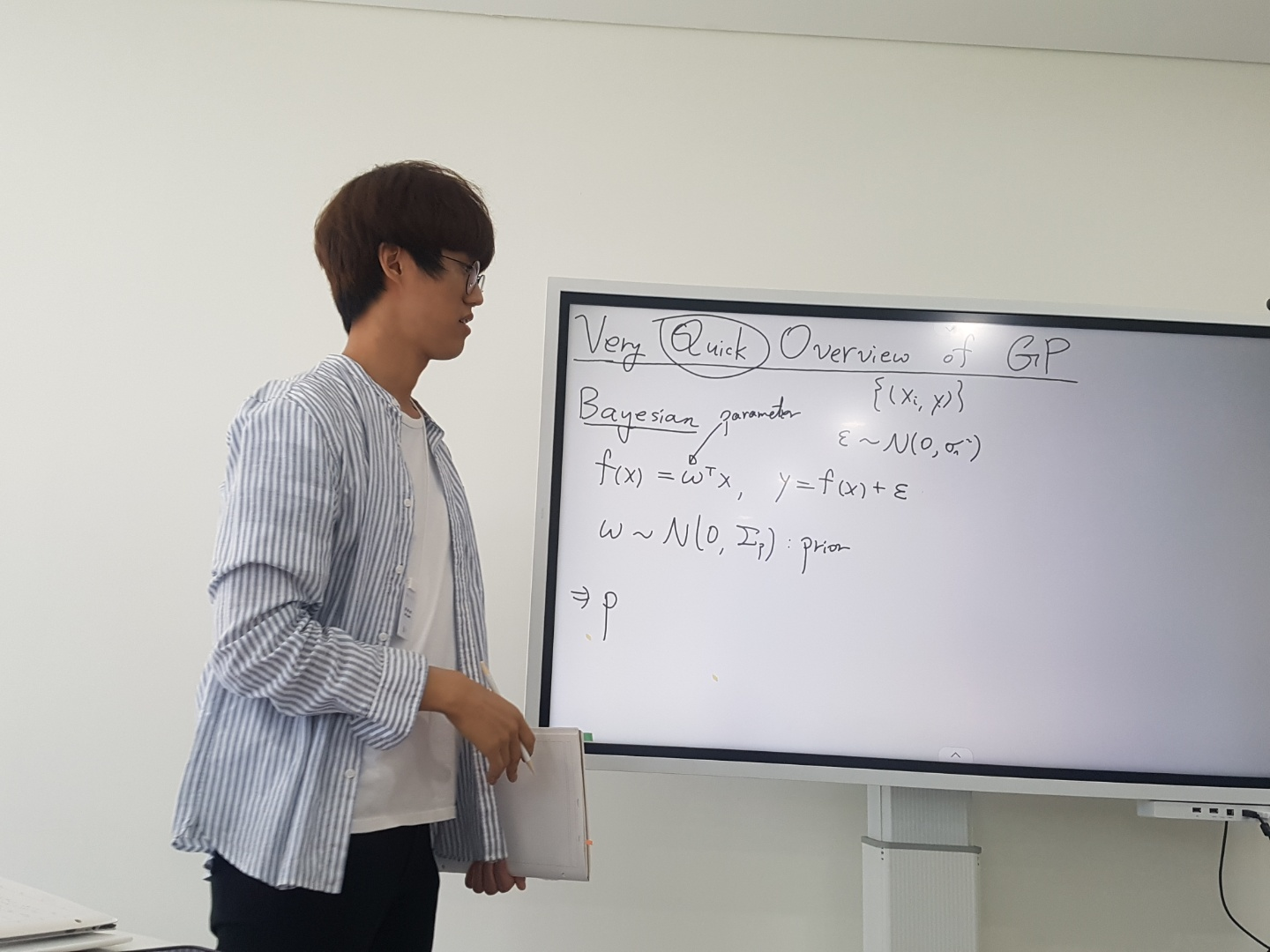 Junghyun Lee gave a talk on Bayesian ML/DL, with application to parameter inference of coupled non-linear ODEs as the Journal Club