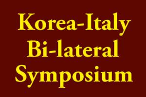 "Korea-Italy Bi-lateral Symposium ""Current developments in underground physics"""