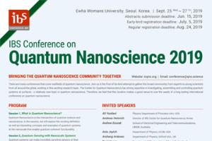 IBS Conference on	Quantum Nanoscience 2019