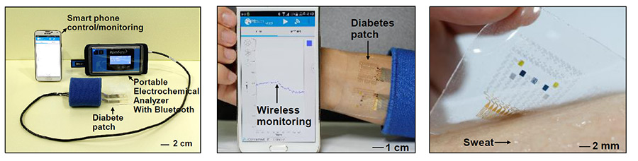 diabetes monitoring wearable patch demonstration