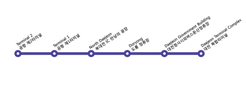 ICN bus map to Daejeon