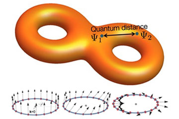 Manifestation of quantum distance in flat band materials