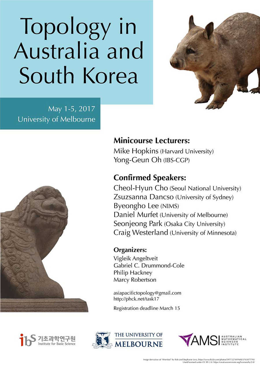 Topology in Australia and South Korea Poster