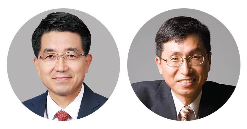 IBS 나노입자 연구단 현택환 단장(왼쪽)과 성영은 부연구단장