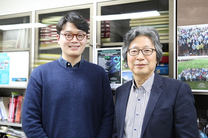 Dr. Choong-kun Lee (left) with Dr.Gou Young Koh