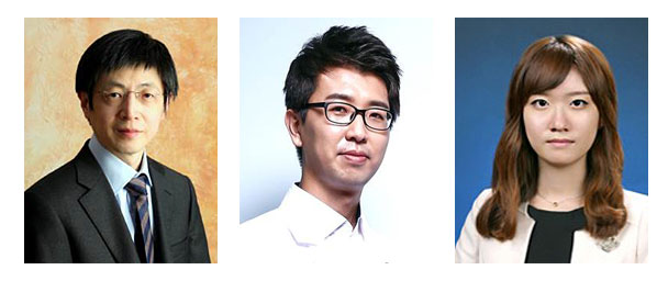 IBS 연구진(왼쪽부터 김진수 수석연구위원, 김대식 연구위원, 김다은 연구원)은 아데닌 염기교정 가위의 정확성을 규명하는데 성공해 3월 5일 새벽 1시(한국시간) 국제 학술지 네이처 바이오테크놀로지(Nature Biotechnology)에 그 결과를 게재했다.