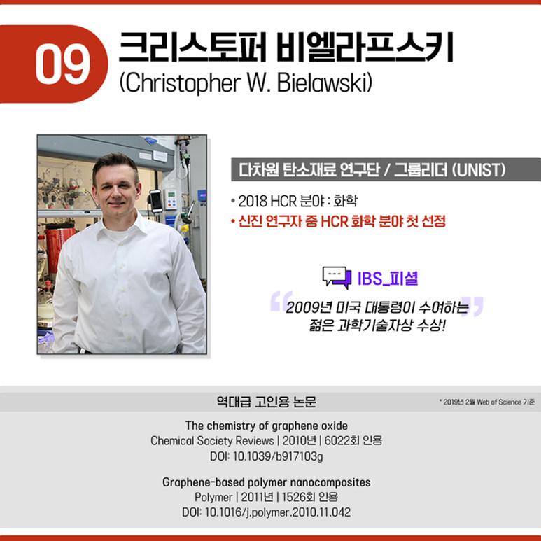 다차원 탄소재료 연구단 그룹리더 크리스토퍼 비엘라프스키