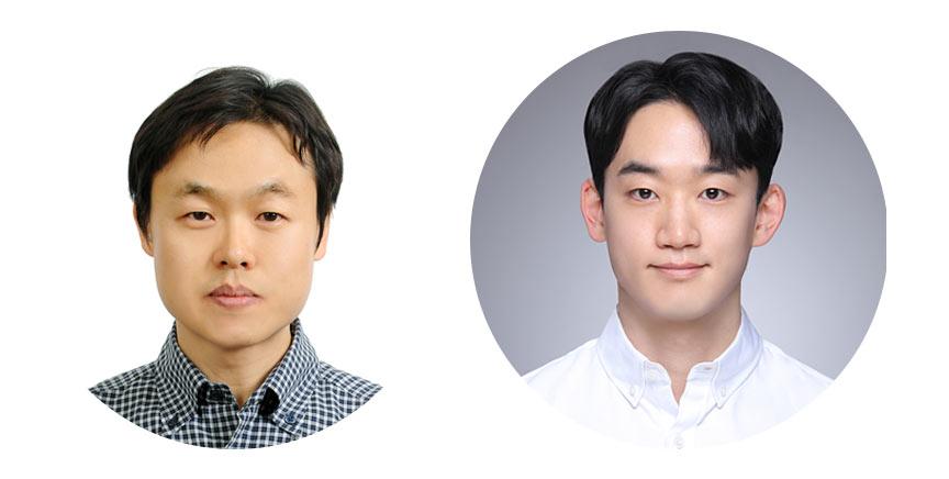 정인 IBS 나노입자 연구단 연구위원(서울대 교수, 왼쪽)과 이용규 연구원