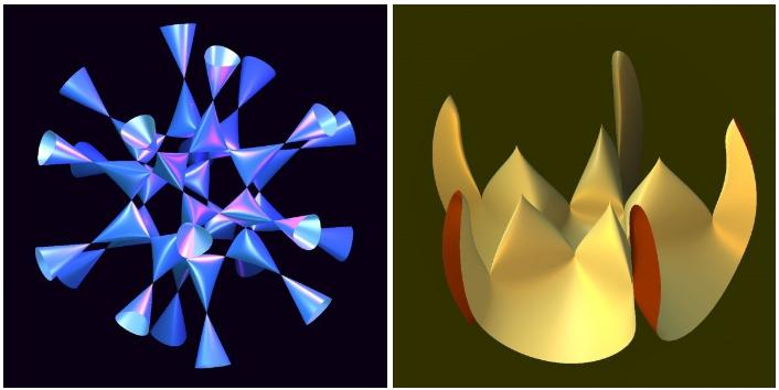 대수다양체의 모양은 상상할 수 없이 복잡하고 다양하다. (출처 : oliver lab)