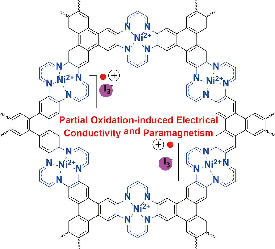 연구진이 개발한 새로운 금속유기구조체(NiTAA-MOF)의 분자구조