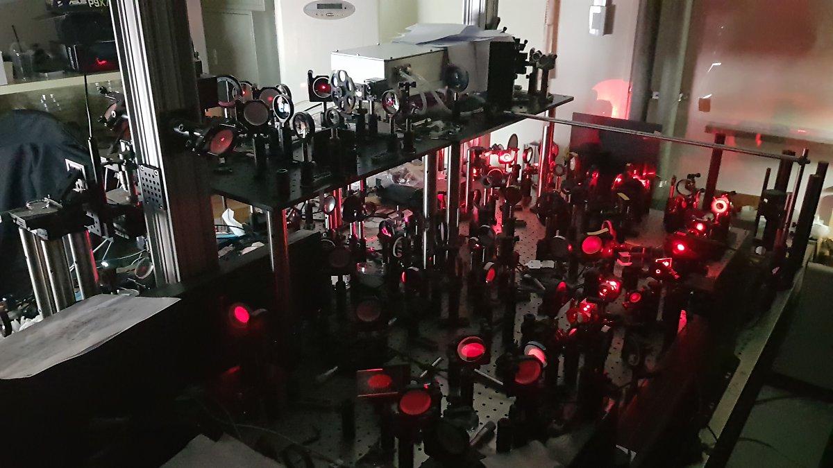 IBS 분자 분광학 및 동력학 연구단 연구진이 개발한 초고속 홀로그램 현미경. (출처 : IBS)