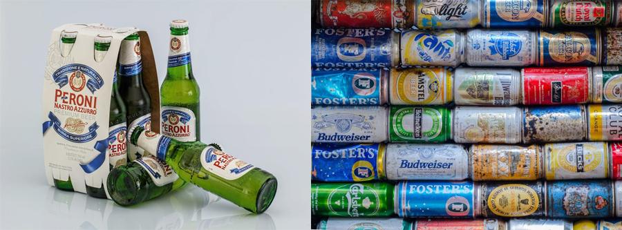 다양한 소재로 만들어진 맥주 포장. 포장에 사용된 소재에 따라 맥주의 풍미가 달라진다. [출처: Pixabay]