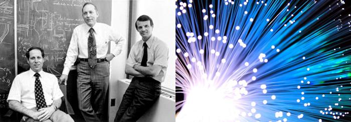 광섬유를 개발한 미국 코닝의 켁, 마우러, 슐츠 박사의 모습(왼쪽). 광섬유는 통신 기술을 발전시키며 인류의 삶을 획기적으로 개선했다. [출처: NSTMF, Pixabay]