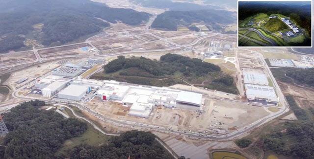 대전 유성구 신동지구 국제과학비즈시니스벨트 중이온가속기 건설현장 사진