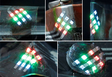 QLEDs Meet Wearable Devices